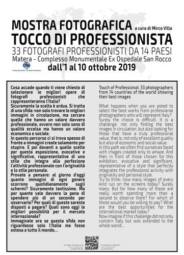 Dal 01 al 10 ottobre 2019 TOCCO DI PROFESSIONISTA