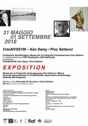 31 Maggio - 1 Settembre 2018 Ken Damy   Pino Settanni