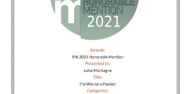 Menzione d'Onore a IPA - International Photography Awards. Honorable Mention at IPA (2021)