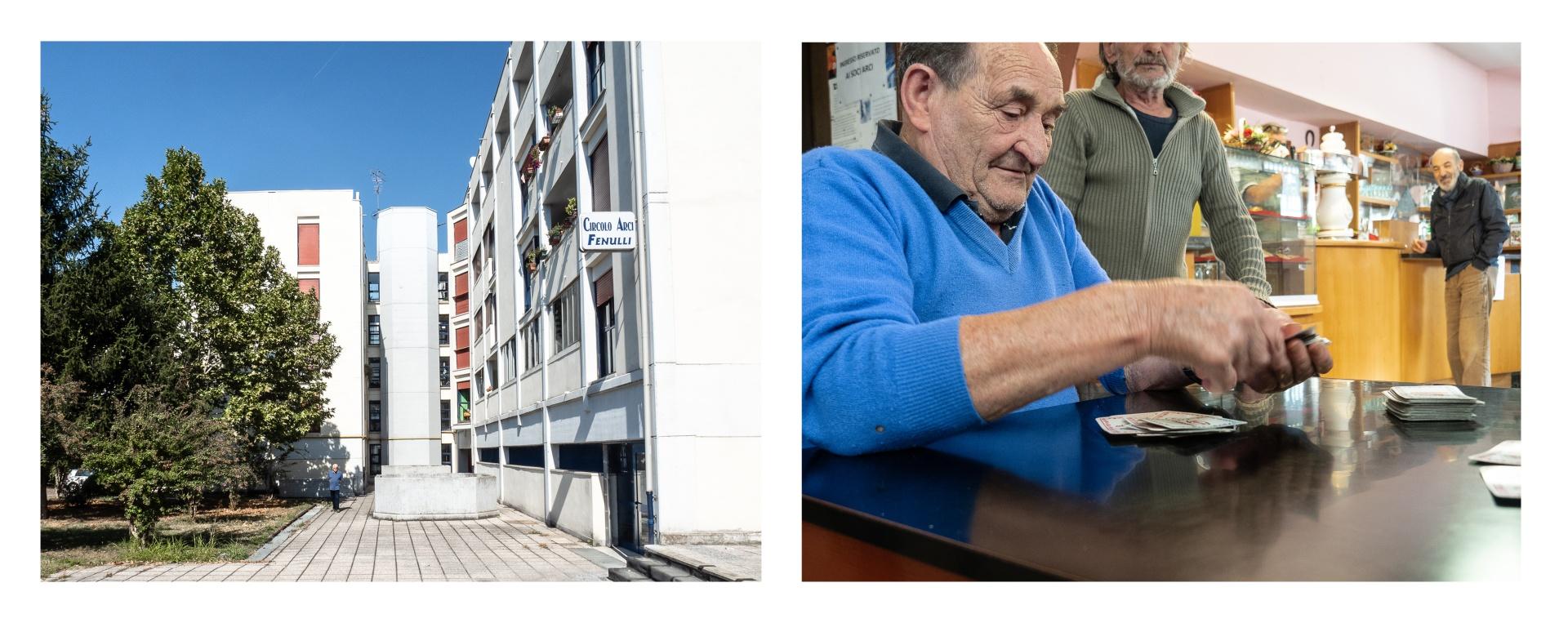 Gente di Via Fenulli. People of Via Fenulli., Situato nel quadrante sud-ovest della città di Reggio Emilia, in zona periferica, il quartiere Compagnoni Fenulli viene costruito tra il 1955 e il 1963, come intervento del Piano